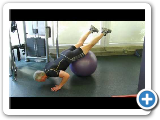 Blaise's Whole Body Floating Shoulder Press on Ball Exercise