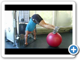 Blaise's Whole Body Floating Jacknife Shoulder Press/on Ball Exercise